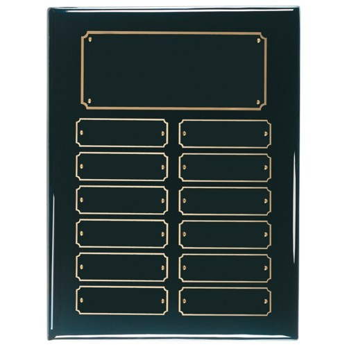 9X12 Black Perpetual Award Plaque