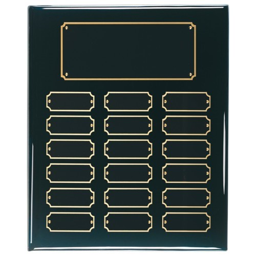 10.5X13 Black Perpetual Award Plaque