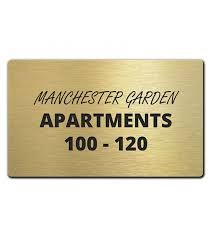 Engraved Brass Plate or Plaque
