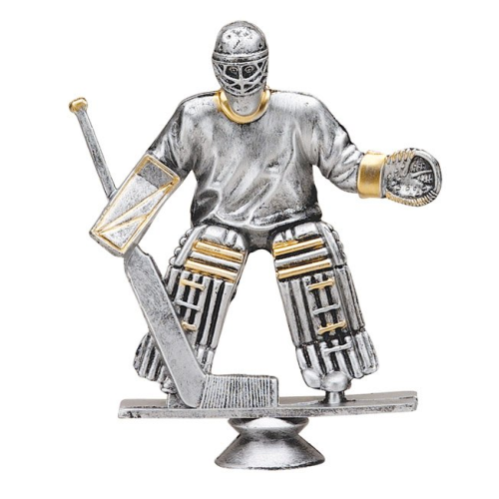 Hockey Goalie Male Antique Silver