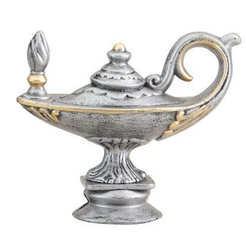 Silver Lamp of Knowledge Topper