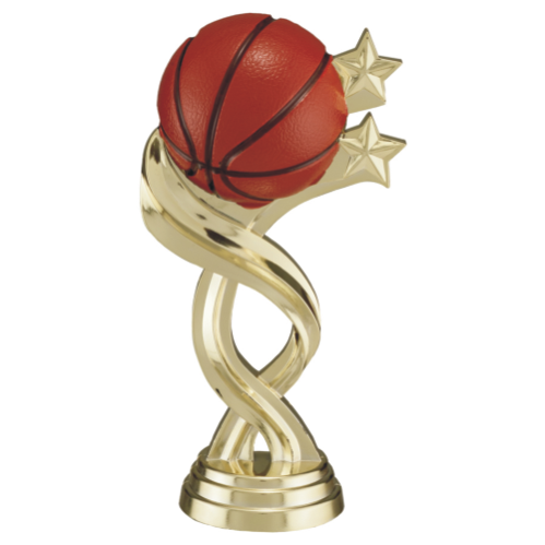 Basketball with two twisted Stars Full color
