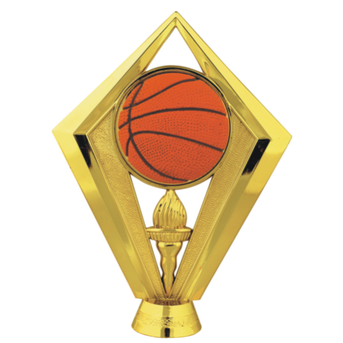 Basketball with Flamed torch Topper
