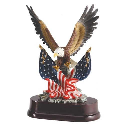 Eagle and Flags Resin