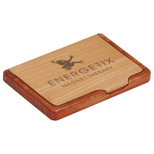 Maple/Rosewood Business Card Case
