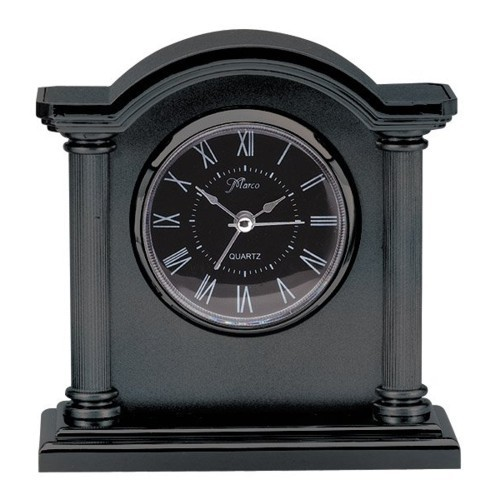 Black Column Clock
