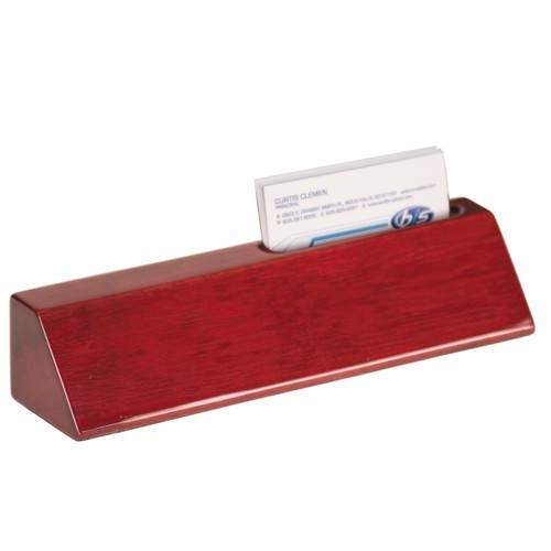 Rosewood Piano Finish Desk Wedge and Card Holder