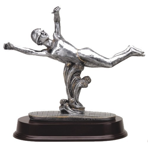 Female Freestyle Swimmer Resin