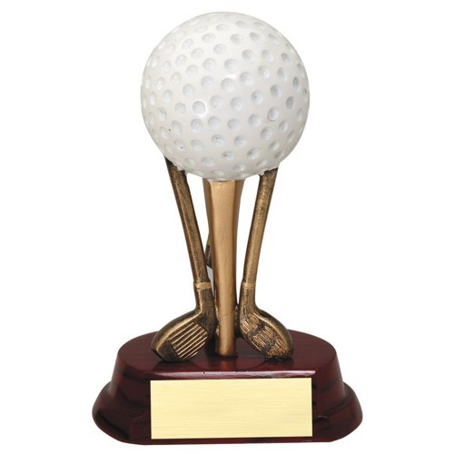"6-3/4"" Golf Ball on Clubs"