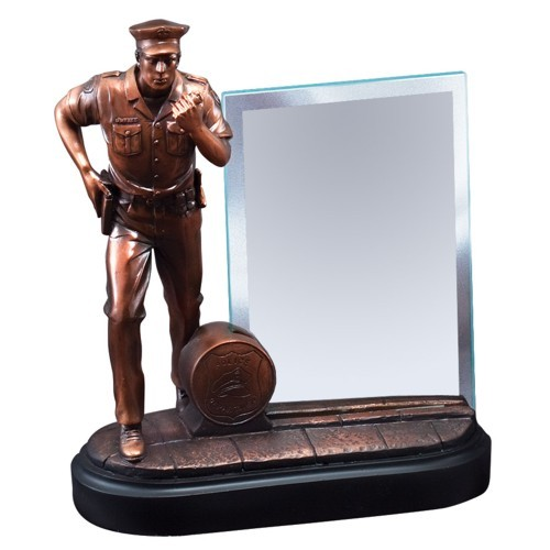 Policeman Statue Resin with Glass