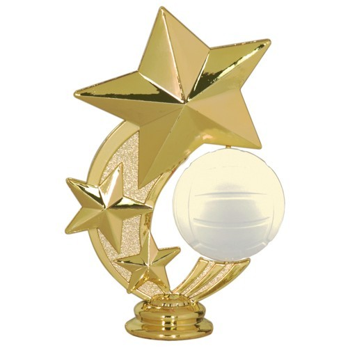 Three Star Volleyball Spinner Topper