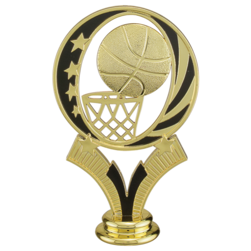 Black and Gold Basketball Topper