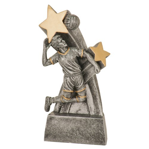 Shooting Star Male Volleyball Resin