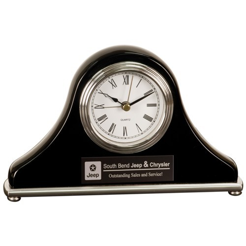 Black Mantle Desk Clock