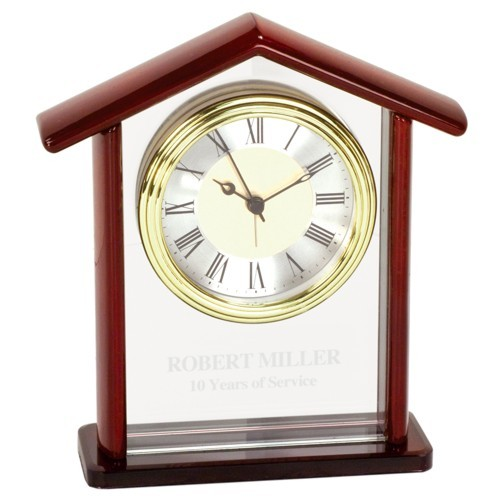 Glass Steeple Clock