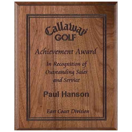 8X10 Natural Wood Award Plaque