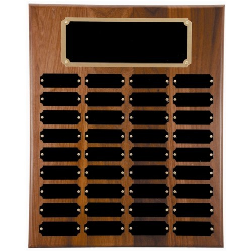 12X18 Walnut Perpetual Award Plaque (36 Plates)