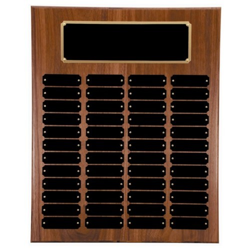 16X20 Walnut Perpetual Award Plaque