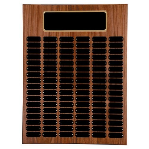 18X24 Walnut Perpetual Award Plaque (102 Plates)