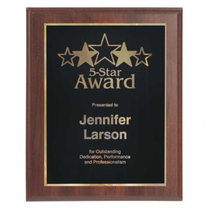 4x6 Laser Engraved Award Plaque
