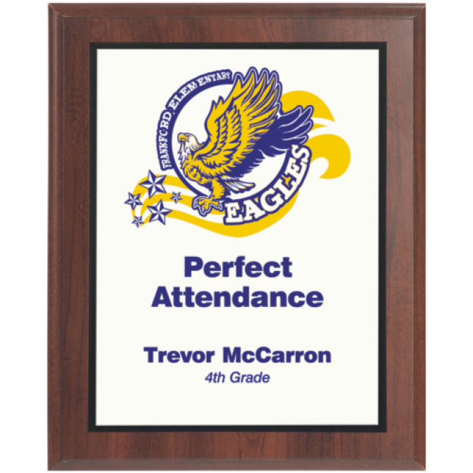 6X8 Full Color Award Plaque