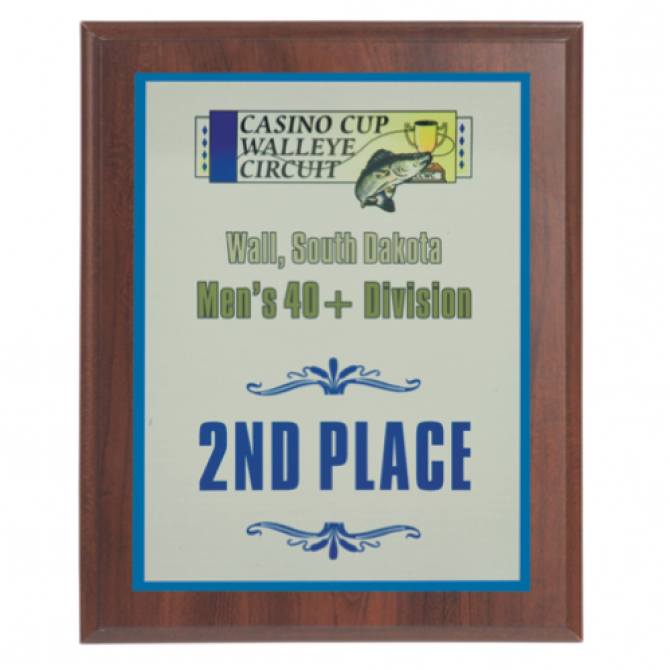 9X12 Full Color Award Plaque