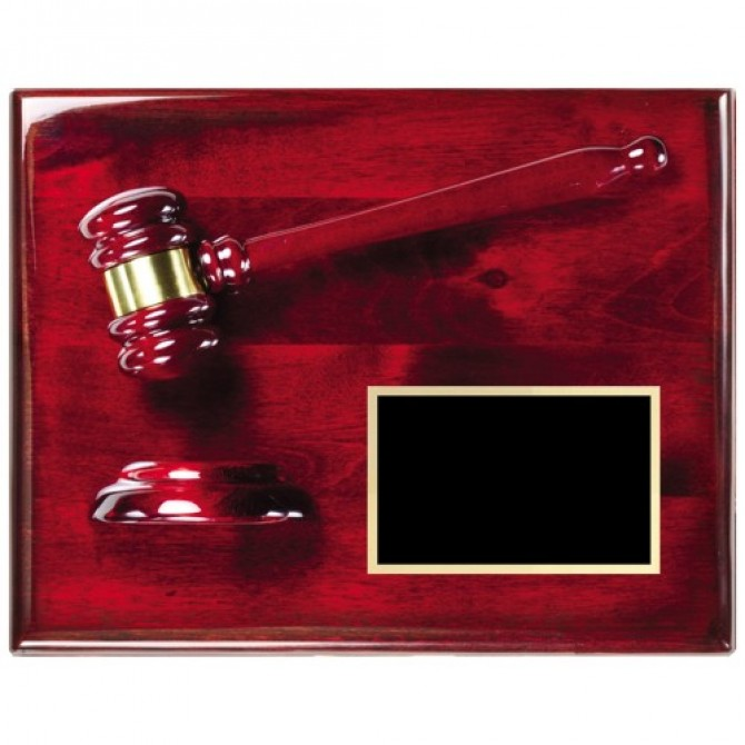 8X10 Rosewood Gavel Award Plaque