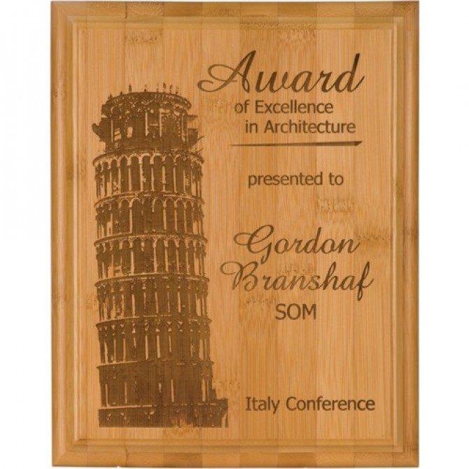 10.5X13 Natural Wood Award Plaque