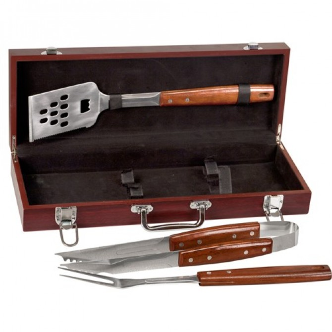 Rosewood Grill Set