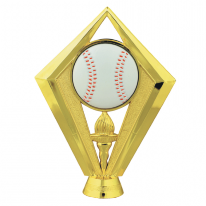 Baseball with Flamed torch Topper