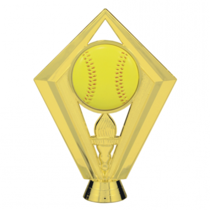 Softball with Flamed torch Topper