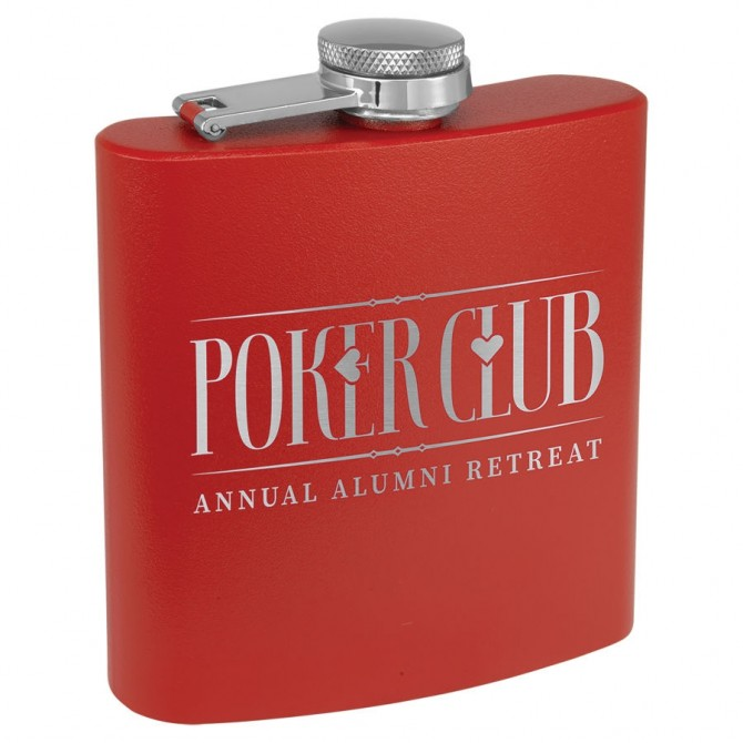 Personalized Red Flask | PWFSK503