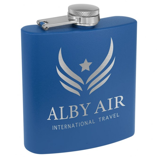 Personalized Blue Flask | PWFSK504