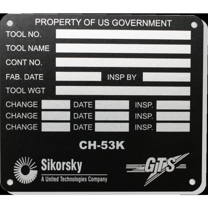 Engraved Industrial Plates