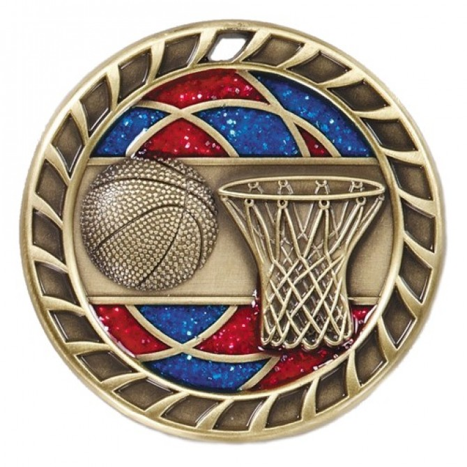 Glitter Series Basketball Medal