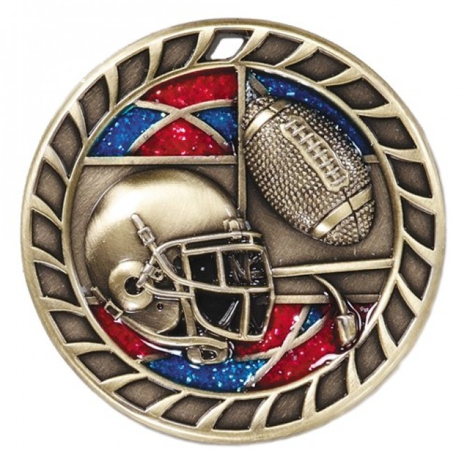 Glitter Series Football Medal