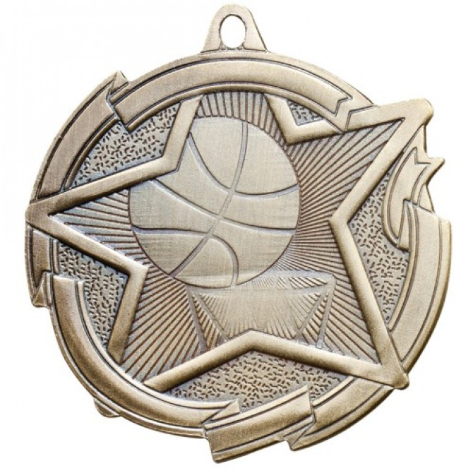 Star Series Basketball Medal