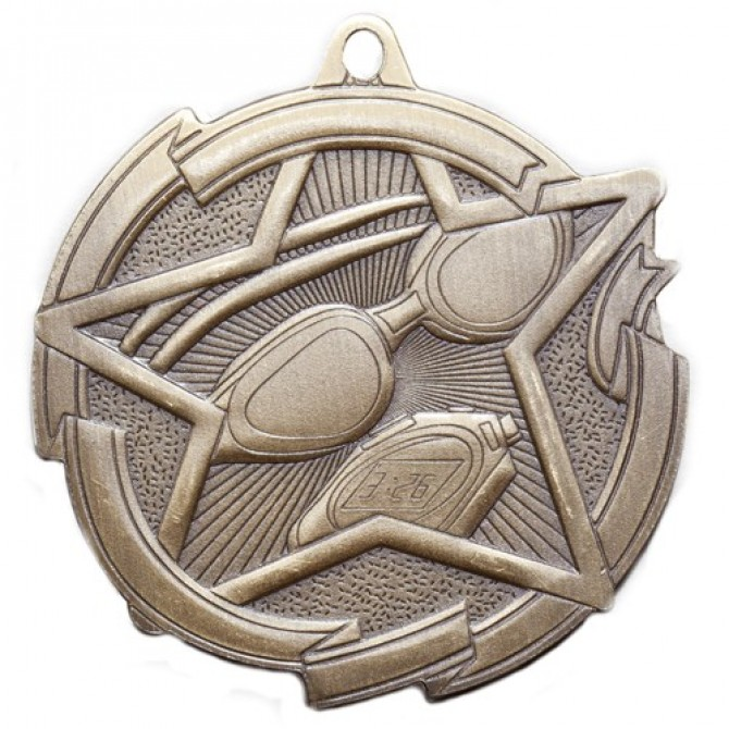 Star Series Swimming Medal