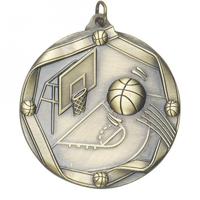 Ribbon Series Basketball Medal