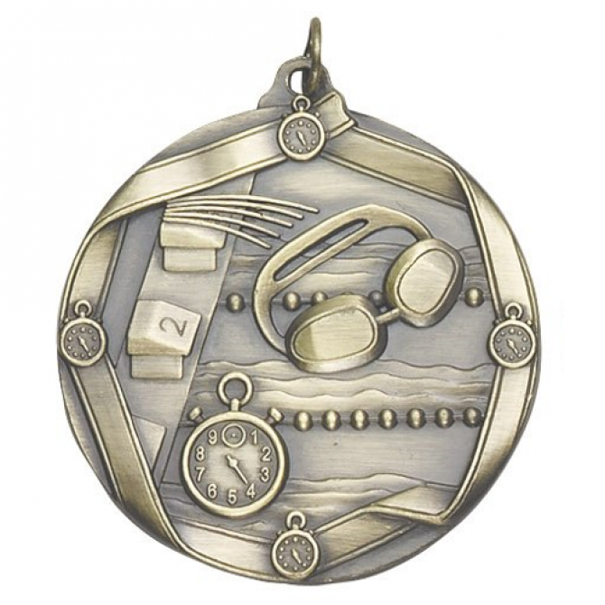 Ribbon Series Swimming Medal