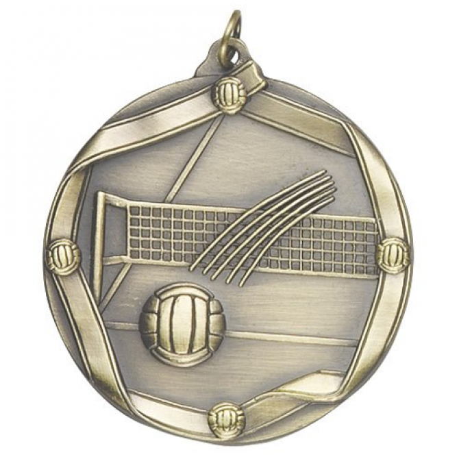 Ribbon Series Volleyball Medal