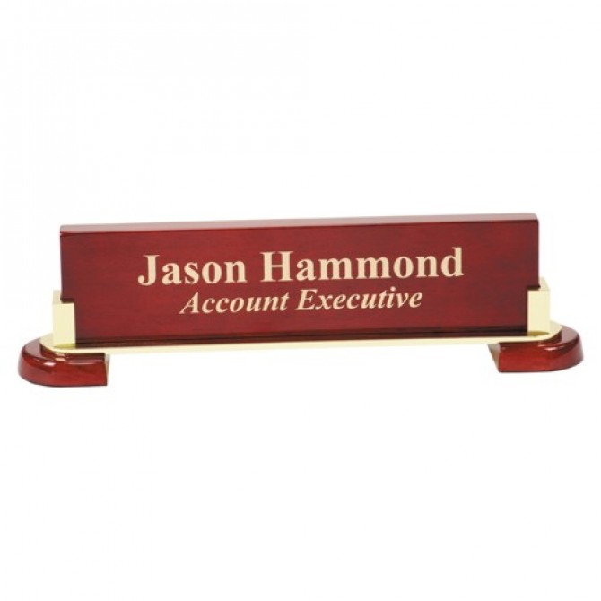 Rosewood Piano Finish Name Bar