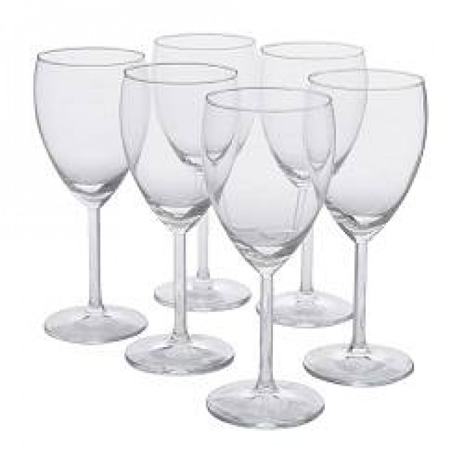 Personalized White Wine Glasses - Pack of 5