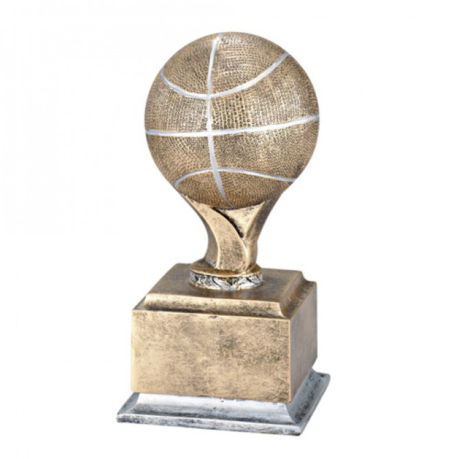 Basketball Pedestal Antique Gold