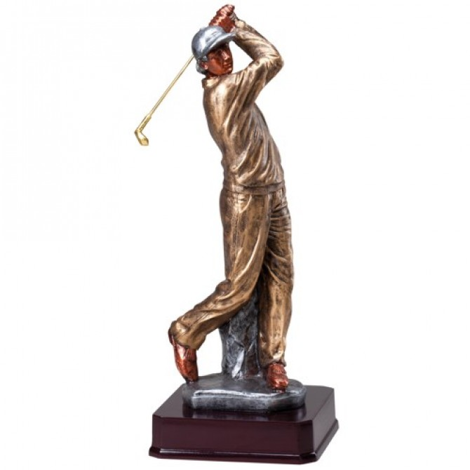 Beautiful Male Golfer Sculpture