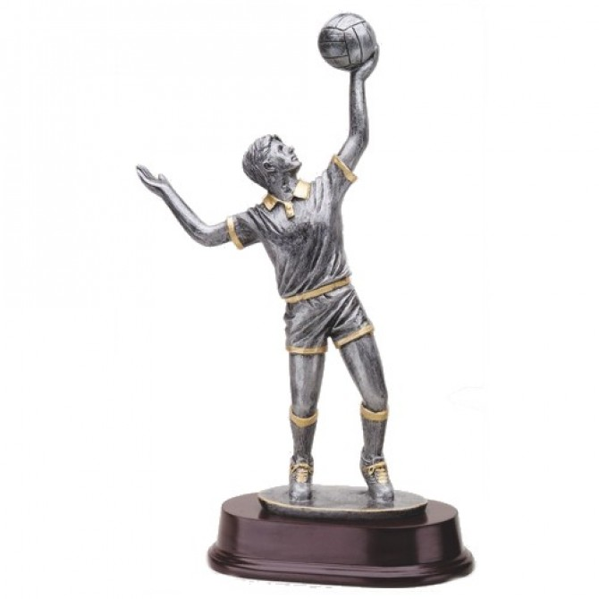 Male Volleyball Sculpture Resin