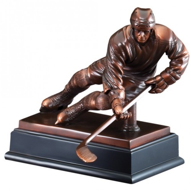 Hockey Player Sliding Sculpture