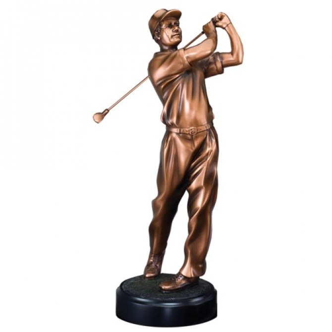 "11"" Male Golf Swing Sculpture"