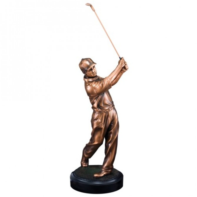 Large Male Golfer Sculpture