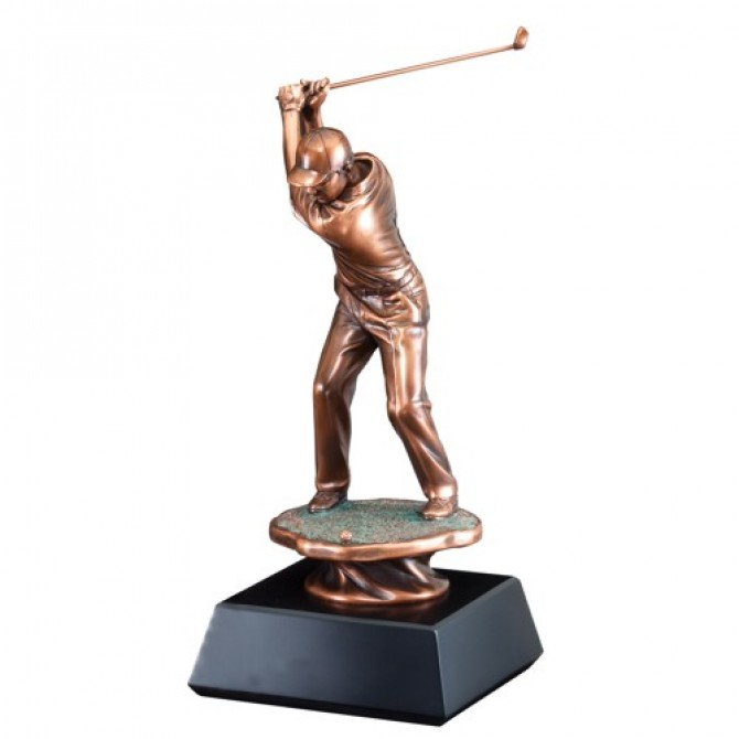 "20"" Male Golfer Driver Sculpture"